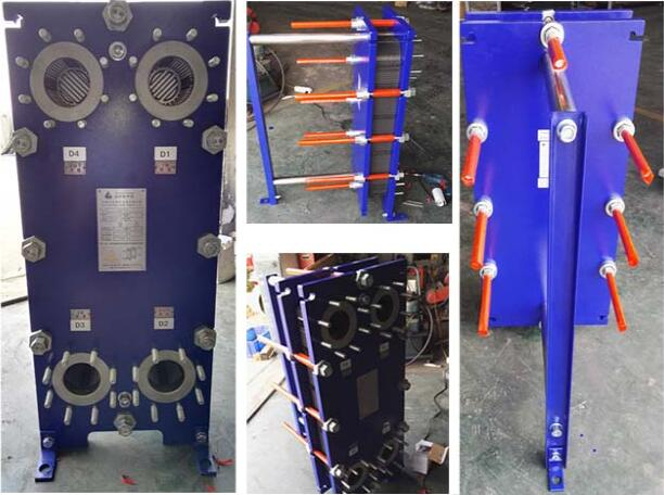 Shanghai customers order PH100 removable plate heat exchanger