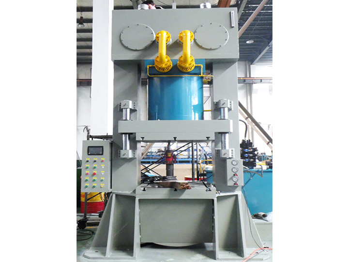 Steel wire wound non-ferrous metal cold extrusion hydraulic press
